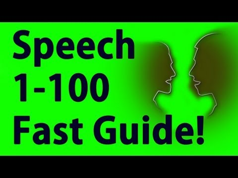 Speech 1-100 in Minutes - Skyrim Fastest way to level - YouTube