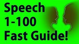 Speech 1-100 in Minutes - Skyrim Fastest way to level