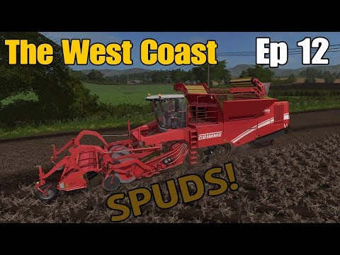 Let's Play Farming Simulator 17 PS4: The West Coast, Ep 12 (Spuds!)
