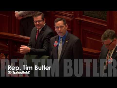Rep. Butler honors former U.S. House Minority Leader Bob Michel of Peoria