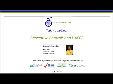 Preventive Controls and HACCP