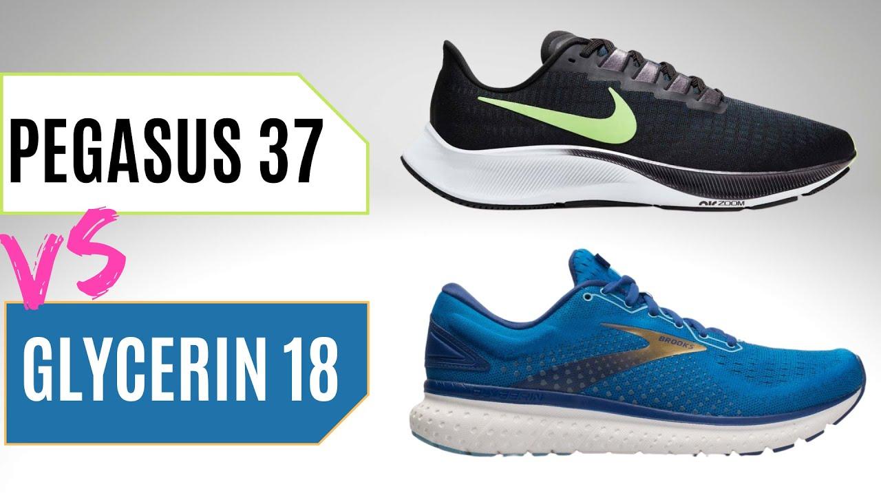 Nike Pegasus 37 Vs Brooks Glycerin 18
