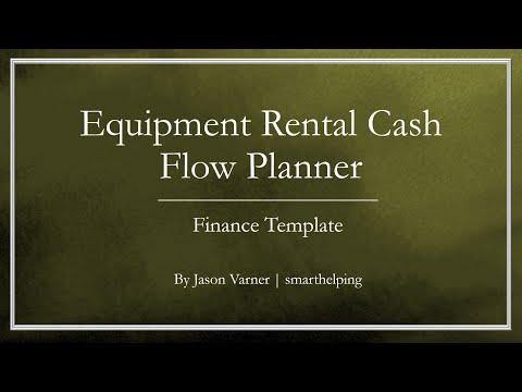Equipment Rental Business - Cash Flow Planning