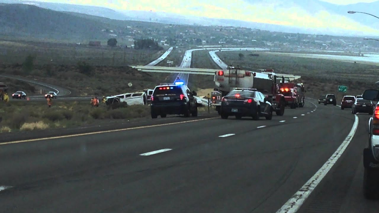 Just now, major traffic accident US 395 north of Reno, Nevada