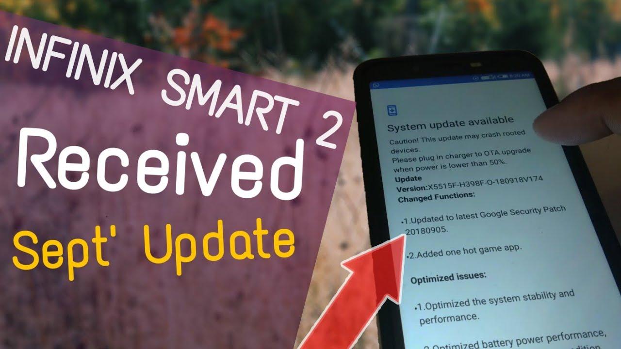infinix smart 2 September 2018, OTA update received, MI A1 OCT update when ?