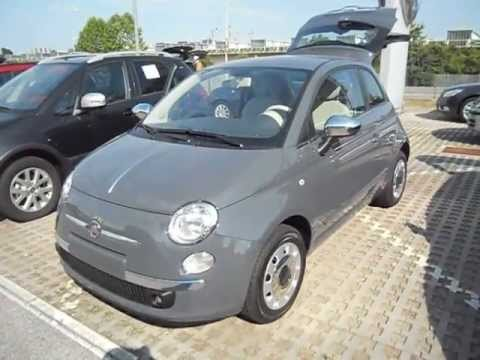 fiat 500 1 2 69cv pop star grigio carrara youtube. Black Bedroom Furniture Sets. Home Design Ideas