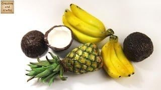 аНАНАС из полимерной глины / Pineapple from polymer clay / Светлана Няшина