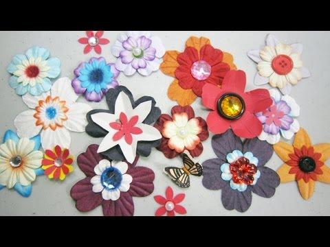 Episodio 573- Tècnicas simples para realizar flores de papel para ...