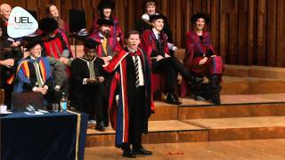 Lee Evans citation and speech from University of East London's Graduation ceremony 2010