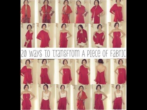 20-ways-to-transform-a-piece-of-fabric-into-a-shirt,-skirt,-&-dress- -transformation