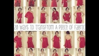 One of Chriselle Lim's most viewed videos: 20 Ways To Transform A Piece of Fabric Into A Shirt, Skirt, & Dress | Transformation