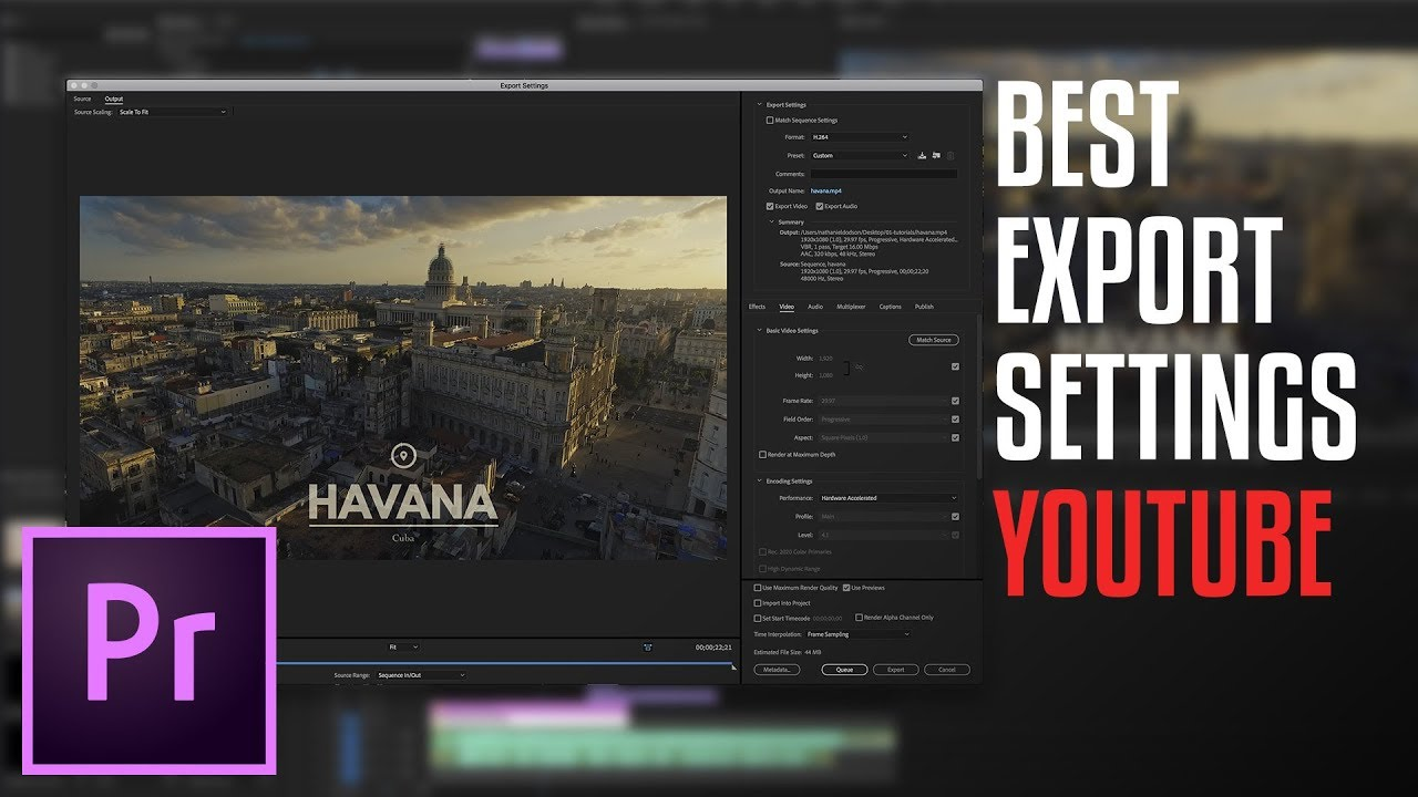 how to export the best hd video for youtube - youtube