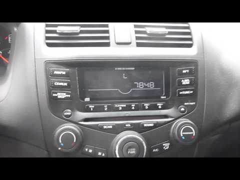 Honda Accord Radio Unlock Instructions and Codes