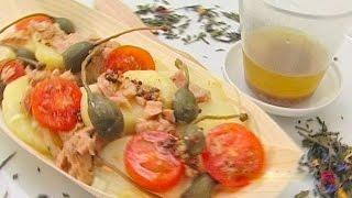 Картофельный салат с тунцом.