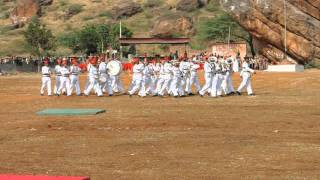 Sainik School Bijapur, Maratha Light Infantry Band at Badami  6
