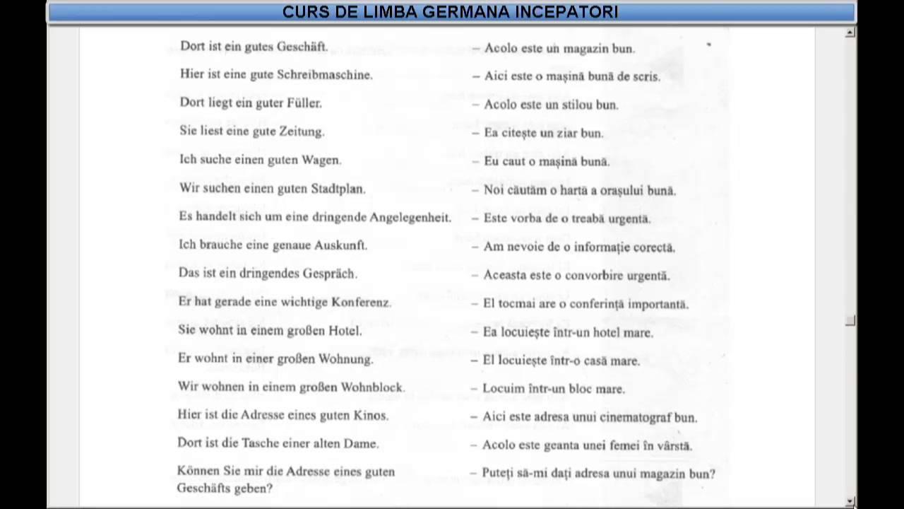 Dictionar lb germana
