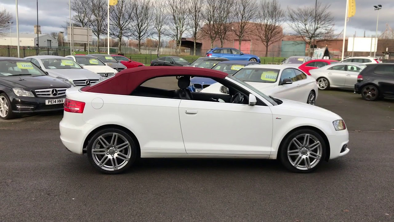 Audi A3 Cabriolet 1 6 Tdi S Line 2dr Convertible White Red