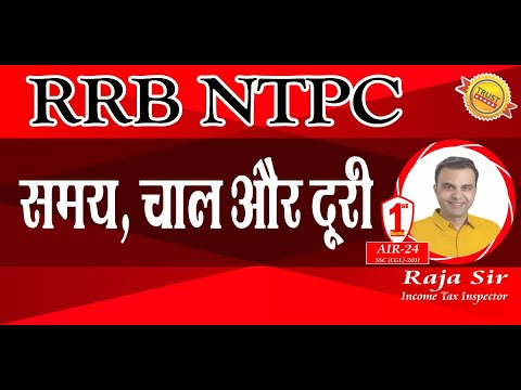 RRB NTPC : Time Speed Distance : Basic Concept Tricks Formula Shortcuts Thought Process