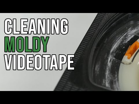 How to clean moldy VHS videotape