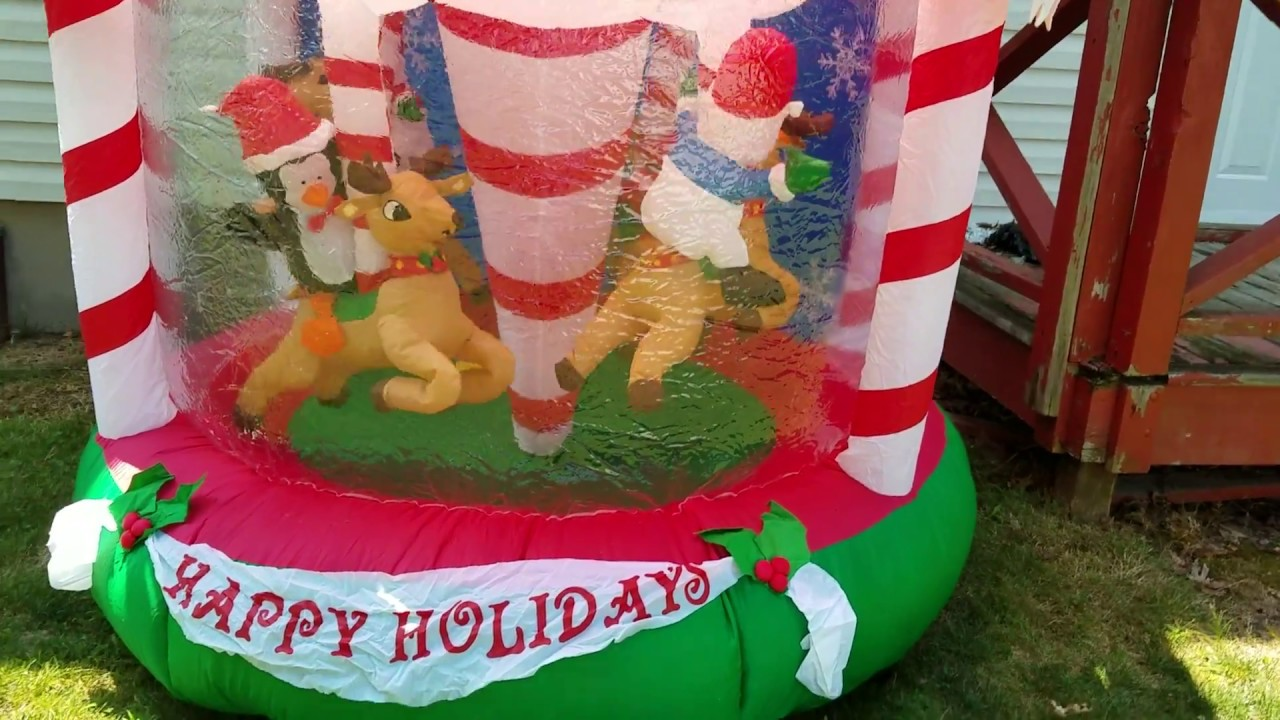 Gemmy Christmas Airn Inflatable Carousel Unboxing And Review
