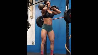 Crazy Strong Crossfit girl - Heavy Workout    Crossfit Athlete #shorts