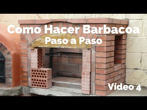 Construcci n de barbacoa 4 final youtube - Barbacoas de ladrillo refractario ...