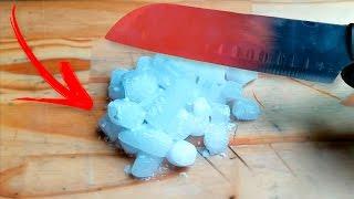 faca quente vs gelo seco