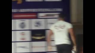 بالفيديو علاء أيمن يفوز على لاعب إسرائيل ببطولة العالم لمصارعة الذراعين -