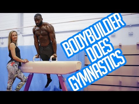BodyBuilder Doing Gymnastics | How to Front Flip | Gabriel Sey