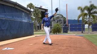 New York Mets Pitcher Matt Harvey Throws Off The Mound