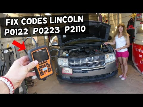 HOW TO FIX CODE P0122 P0223 P2110 LINCOLN MKX MKS MKT MKZ NAVIGATOR