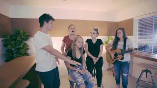 Siblings sing Don't Give Up On Me by Andy Grammer live