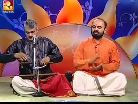Ajith Namboodiri-K Bhaskaran Flute YamanKalyani Krishna nee begane baro