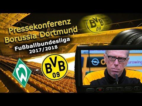 SV Werder Bremen - Borussia Dortmund: Pk mit Peter Stöger