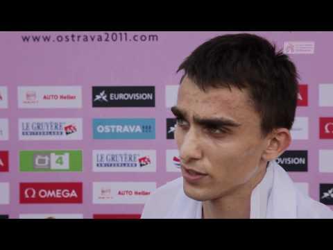 Adam Kszczot (POL), 800m Men - flash interview (ECH U23 Ostrava 2011)
