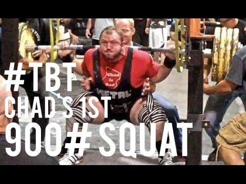 0d72d8eeca0e36  TBT Chad s 1st 900 Pound Squat