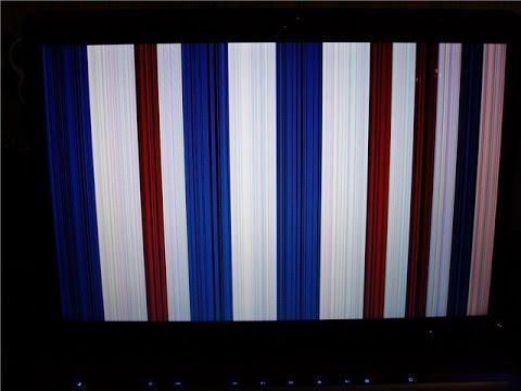 Полосы на экране  компьютера. Рябь на экране ноутбука.