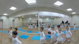 Солнечный город - занятие по ритмике в детской студии «Колокольчики» (видео 360)