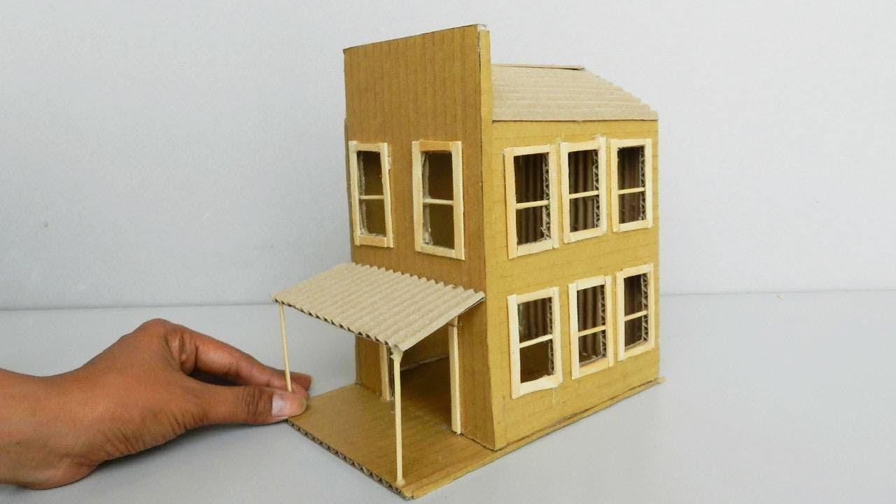 3 Beautiful Diy Cardboard House Easy Crafts Ideas Youtube