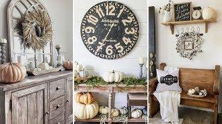 ❤DIY Rustic chic style Fall Entryway decor Ideas❤ | Home decor & Interior design| Flamingo Mango
