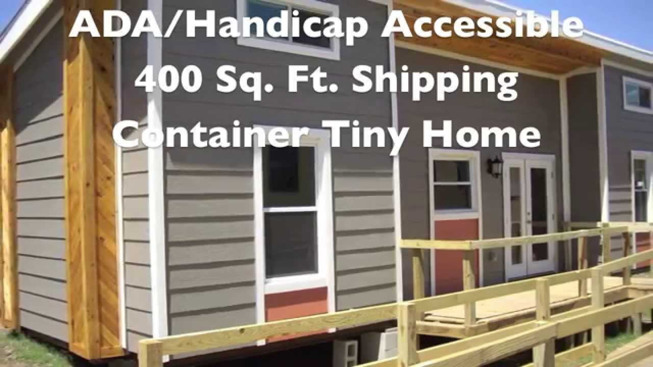 ADA Shipping Container Tiny Home Built by Students YouTube