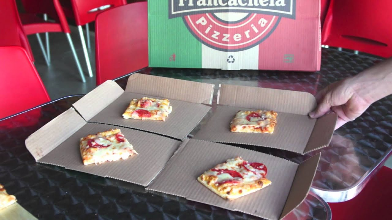 1 caja de pizza 3 usos francachela pizzer a youtube for Como instalar una pizzeria