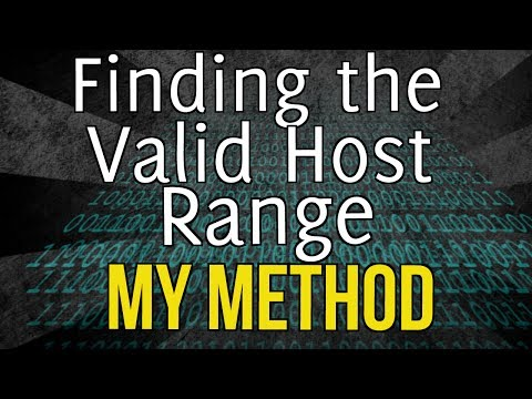 How to determine the network, broadcast, and host ranges: My method