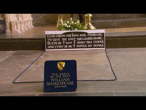 The blessing and curse at Shakespeare's grave