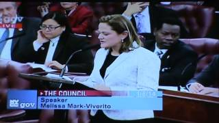 Melissa Mark-Viverito Is Elected City Council Speaker, Her Acceptance and Appreciation Speech