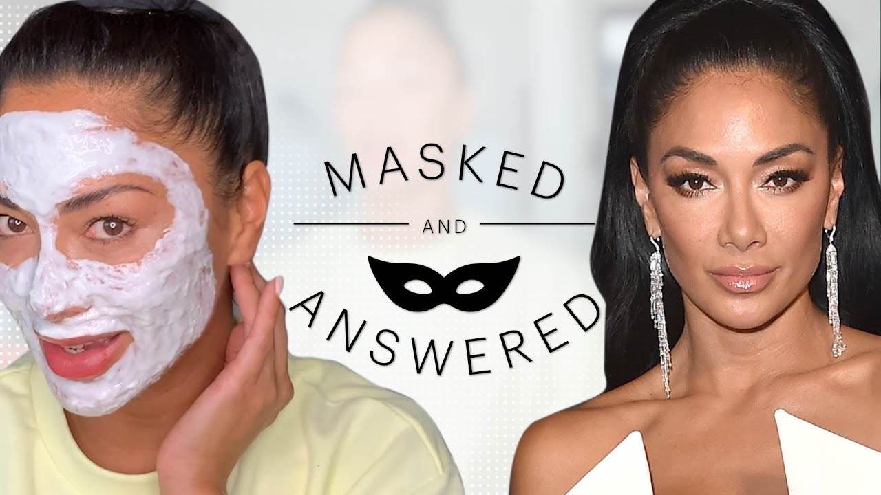 Nicole Scherzinger Face-Masks & Shares Her Beauty Rituals | Masked and Answered | Marie Claire