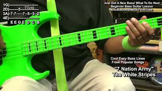 Just Got A New Bass Guitar? What To Do Next + Easy Bass Lines Lesson @EricBlackmonGuitar