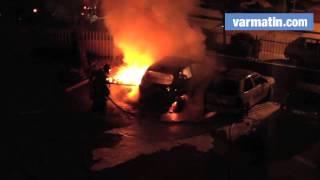 Voitures en feu à La Valette