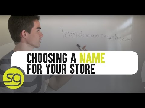 Choosing A Name For Your Online Store | #14