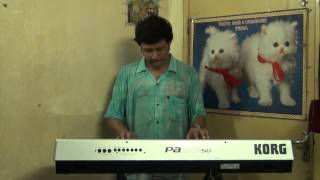 PRAN CHAY CHOKKHU NA CHAY RABINDRASANGEET INSTRUMENTAL ON SYNTHESIZER KORG PA 50 SD BY PRAMIT DAS